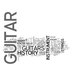 A look at the history of the guitar text word vector