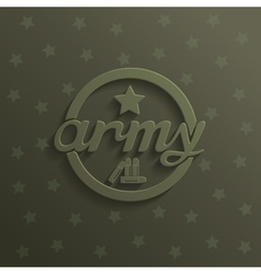 Army 3D abstract sign vector image
