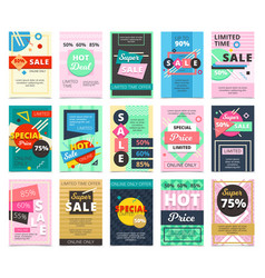 Big collection flat hot sales banners vector