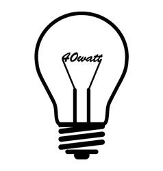Bulb 40 wat vector