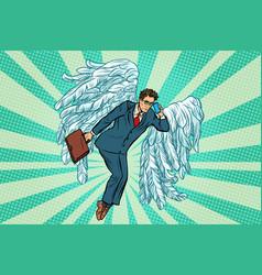 Business angel businessman vector