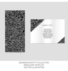 Business identity collection Black and white vector image vector image