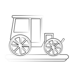 Classic horse carriage vector