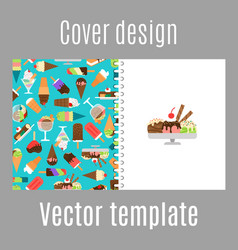 Cover design with ice cream pattern vector