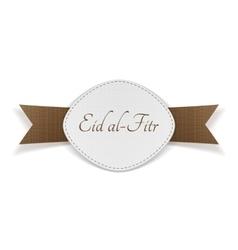 Eid al-fitr muslim festive banner vector