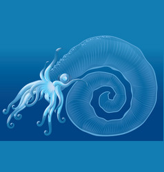 fantastic sea monster vector image vector image