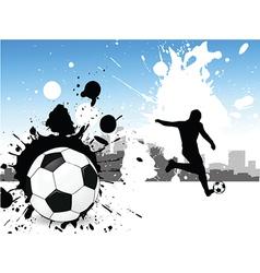 Grunge footballer vector
