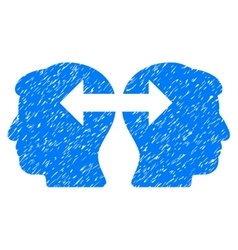 Heads exchange arrows grainy texture icon vector