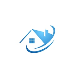house abstract roof construction logo vector image vector image