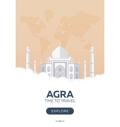 India agra taj mahal time to travel travel vector