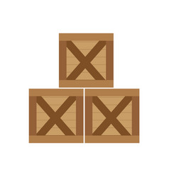 Isolated box design vector