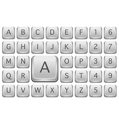 Keyboard alphabet vector