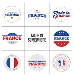 Made In France Sticker vector image vector image