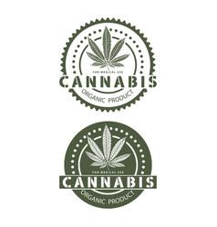 Medical organic cannabis vector