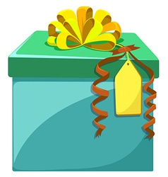 Present box with yellow ribbon vector image