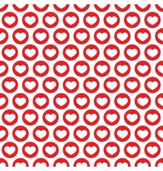 Red heart seamless pattern vector