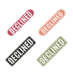 Set of stamps declined vector