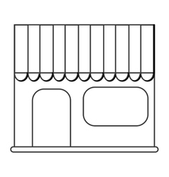 shop shopping store flat icon vector image
