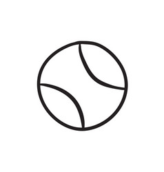 Tennis ball sketch icon vector