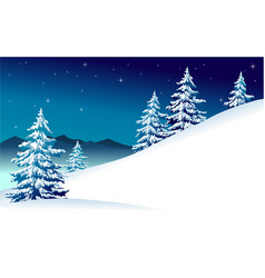 Winter mountain landscape vector