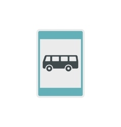 Bus stop sign icon flat style vector