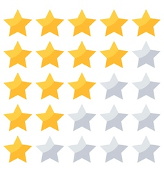 Five stars rating isolated on white background vector