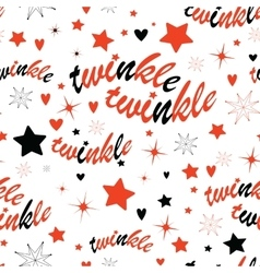 Twinkle stars seamless pattern vector