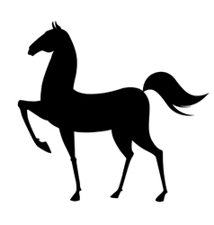 Black horse silhouette vector