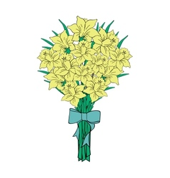 Bouquet of yellow narcissi vector image