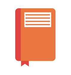 Closed notebook with page marker icon image vector