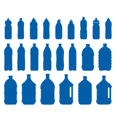 Set of plastic bottle icons vector