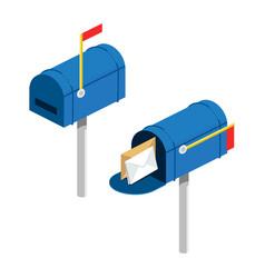 Post box isometric vector