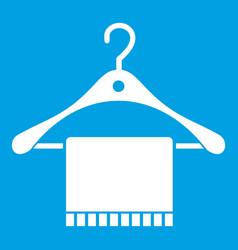 Scarf on coat hanger icon white vector