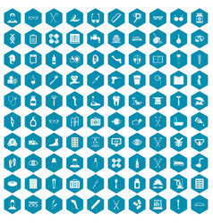 100 disabled healthcare icons sapphirine violet vector