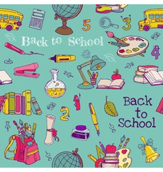 Back to School - Seamless Background vector image