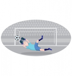 Goalkeeper vector