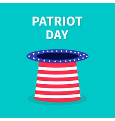 Patriot day hat flat design vector