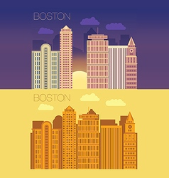Boston flat building city vector image