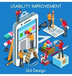 GUI design 02 People Isometric vector image