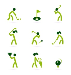 Golf icons vector