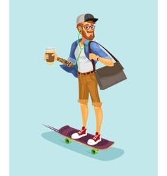 A cool hipster vector