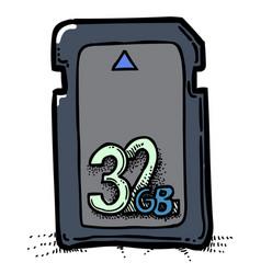Cartoon image of memory card vector