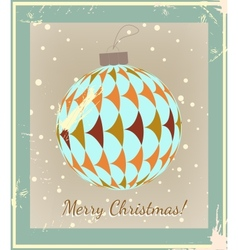 Christmas Ball made of vintage style vector image