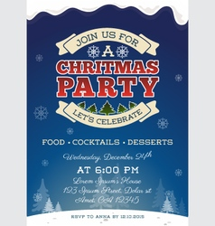 ChristmasPaChristmas party invitation template vector image