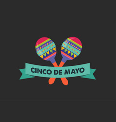 Cinco de mayo - may 5 federal holiday in mexico vector