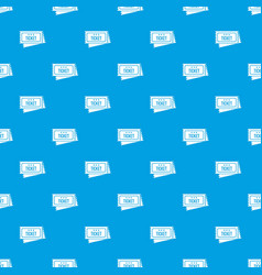 Circus show tickets pattern seamless blue vector