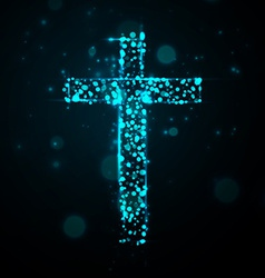 Cross of light vector
