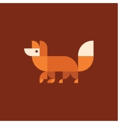 Fox logo of geometric proportion vector