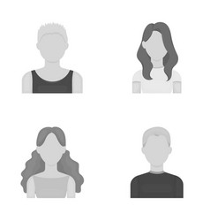 Girl with long hair blond curly gray-haired man vector