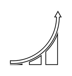 graph black color icon vector image vector image
